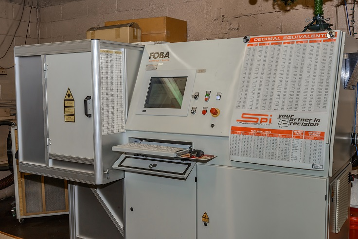 Foba laser engraving machine.